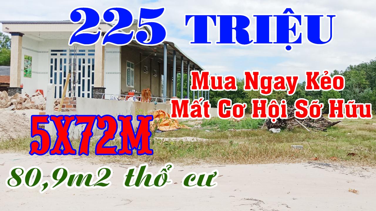 Đất Bến Cầu Tây Ninh 225 Triệu Hết Đất Thổ Cư Đến 80,9m2